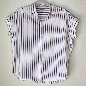 Madewell. Striped oversized cotton button up.